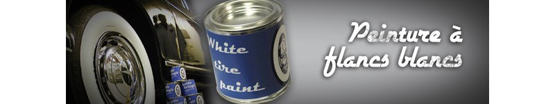 Peinture pneus Flancs Blancs - Peinture pneus véhicules collection